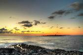 Zonsondergang over de atlantische oceaan — Stockfoto