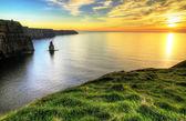 скалы мохер в ирландии — Стоковое фото