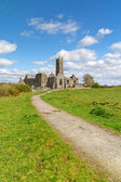 Quin abbey in Co. Clare — Stock Photo