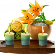 Stock Photo: Spa candles