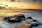 Pôr do sol atlântico — Foto Stock