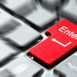 Red enter button — Stock Photo #5876870