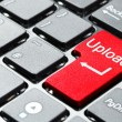 Red upload button — Stock Photo #5876908
