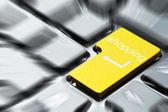 Yellow shopping button — Stock Photo