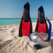 Stock Photo: Snorkeling equipment