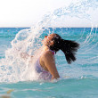 Jumps out of the sea — Stock Photo