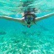 Stock Photo: Snorkeling in CaribbeSea