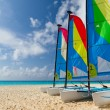 Catamarans on the Caribbean beach — Stock Photo #6231867