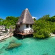 Mexican jungle hut - Stock Photo