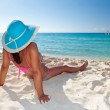 Relaxing on holiday at Caribbean Sea — Stock Photo
