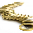 Line of one euro coins — Stock Photo #6602241