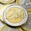 Euro coins composition — Stock Photo