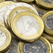 Euro coins composition — Stock Photo #6602352