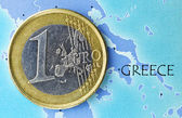 Greece in euro zone — Stock Photo