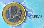 Greece in euro zone — Stock Photo