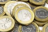 Euro coins composition — Stock Photo