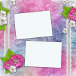 Vintage background with frames for photos, flowers, lace — Stock Photo #5475753
