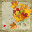 Fall leaves vintage background - Stockfoto