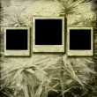 Royalty-Free Stock Photo: Paper frames  on the grunge paper background