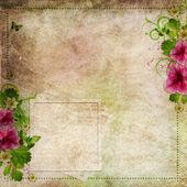 Grunge achtergrond voor heilwens kaart in roze en groen — Stockfoto