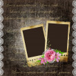 Vintage background with frames for photos and flowers — Stock Photo #5900211