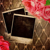 Old frame for photo on vintage background — Stock Photo