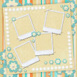 Kids card in scrapbook style — Stock Photo