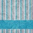 Stock Photo: Striped background with banner, variable width stripes