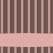 Striped background with banner, variable width stripes — Stock Photo