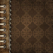 Brown cover for an album with photos — Stock Photo