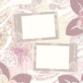 Vintage floral background and two frames — Stock Photo