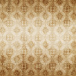 Stock Photo: Brown damask seamless texture, abstract pattern