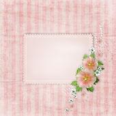 Cartão vintage e rosa malva — Foto Stock