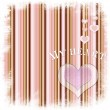 Valentine card with heart on striped background — Stock Photo #6244466