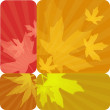 Set of four autumn labels — Stock Photo