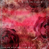 Romantic vintage background with dry rose and drops — Stock Photo