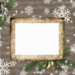 Stock Photo: Frameworks for photos on a Christmas background