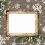 quadros para fotos em um fundo de Natal — Foto Stock