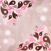 Pink and brown abstract shapes design background — Stock Photo
