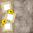 Three frames on vintage background — Stock Photo