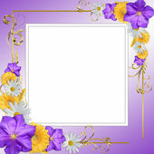 Decorative flowers frame — Stock Photo
