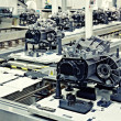 Foto de Stock  : Manufacturing parts for transmission