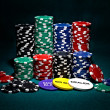 Stacks of chips for poker — Stock Photo