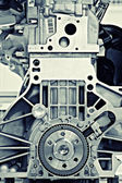 Gear in a motor — Stock Photo