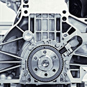 Gear in the car motor — Stock Photo