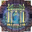 Holographic patch of one hundred Euro banknote — Stok fotoğraf