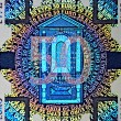 Постер, плакат: Holographic patch of fifty Euro banknote