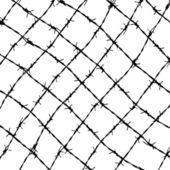 Fence from barbed wires — Stock Vector