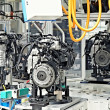 Manufacturing of car engine - Stock Photo