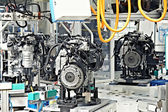 Manufacturing of car engine — 图库照片
